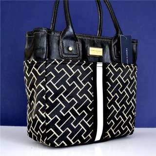 Tommy Hilfiger Black Handbag Tote Purse Bag 715676266307