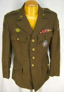 Vintage 1942 WWII US Army XXIV 24th Amphibious Dress Field wool