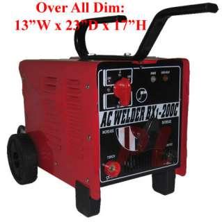 200 AMP Coil Rod AC ARC Welder Welding DUAL MMA Machine 110 & 220 Volt