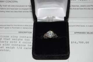 LADIES PLATINUM 2.25 CARAT DIAMOND RING!