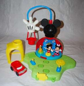Mickeys Surprise Clubhouse Playset Mickey Minnie Mouse Pluto Car