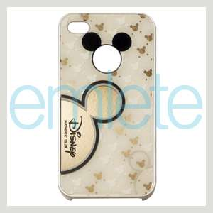 White Disney Mickey Mouse Back Cover Case for iPhone 4 4G 4S AT&T