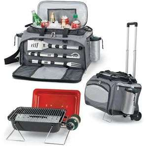 Picnic Time Vulcan Portable Combo Cooler & Grill Wheels