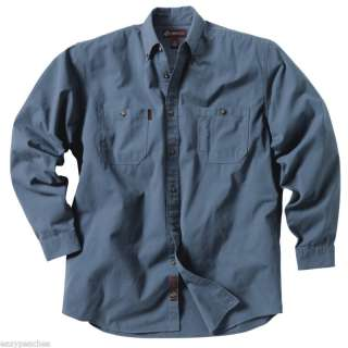 Brick NEW Mens Size S 4XL Farm Long Sleeve Button Down Work Shirt 4285