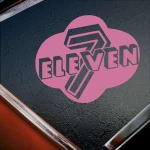 7 Eleven Pink Decal Truck Bumper Window Vinyl Pink Sticker