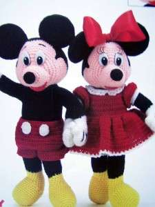 PATTERNS Mickey Mouse~Minnie Mouse Dolls~18 Tall STUFFED TOYS OOP