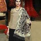 SANDY DREAMS Hand Woven REVERSABLE Wool ShawlBlack