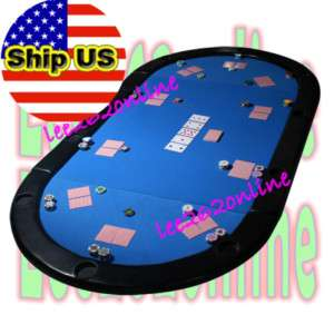 Texas holdem folding poker table top w cup holders gr for 10 player poker table top