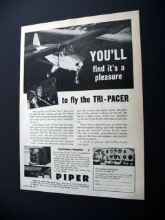 1953 Piper Tri Pacer airplane aircraft print Ad