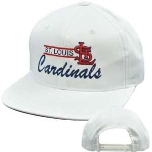 MLB American Needle Mascot White Cap Hat Snapback Flat Bill St Louis