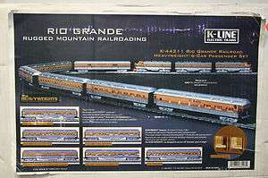 44211 Rio Grande Railroad Heavyweight 6 Car Passenger Set A3