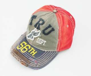 NEW TRUE RELIGION BUDDHA DISTRESSED ARMY MEN WOMEN HAT TRUCKER CAP