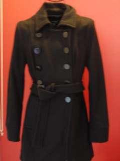 BEBE black button down WOOL JACKET coat 153091