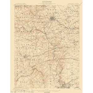 USGS TOPO MAP WEST CHESTER QUAD PA/DE 1904