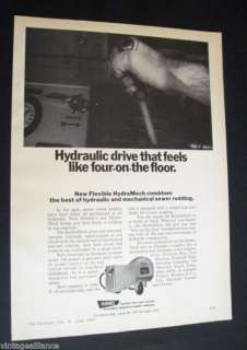 HydraMech Sewer Rodding Machine Rockwell Mfg 1970 Ad