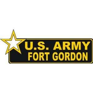 United States Army Fort Gordon Bumper Sticker Decal 9