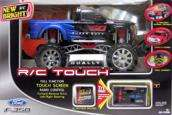 NEW BRIGHT FORD F 350 R/C TOUCH REMOTE CONTROL SCALE 110 BLUE NEW