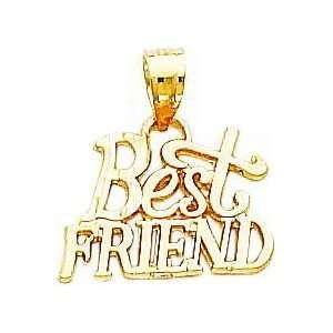 14K Gold Best Friend Pendant Jewelry