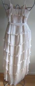 NWT HAUTE HIPPIE Stunning Chiffon Tiered Long Dress, S