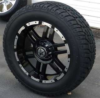 20 inch Black Wheels and Tires Dodge Truck, Ram 1500