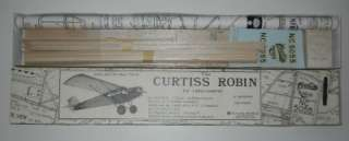 Flyline Models 1 Scale Curtiss Robin Balsa Model Airplane Kit 41
