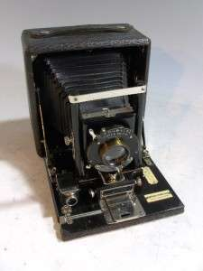 Wood Wooden 4 X 5 Seneca Folding Camera With Revolving Back