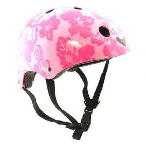 Viking Skateboard Or BMX Bike Helmet Pink Hawaiian One