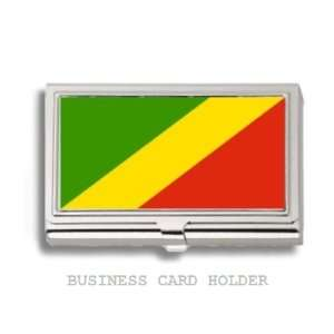 Congo Republic Flag Business Card Holder Case Everything
