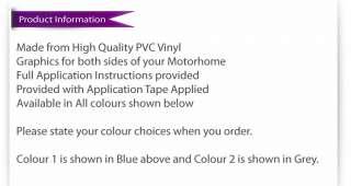 Motorhome / Caravan / Camper Vinyl Graphics/Stickers #2