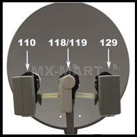 24 SATELLITE TV ANTENNA F/ DIRECTV DISH NETWORK 129 HD