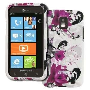 EMPIRE Samsung Focus S I937 Rubberized Design Hard Case Cover (White