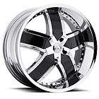 20 22 24 VCT Lombardi Chrome Black Wheels Dodge Ram 1500 Durango