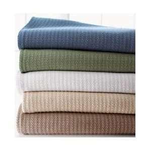 Ralph Lauren Estate Woven Blanket Queen/Rosemary Green