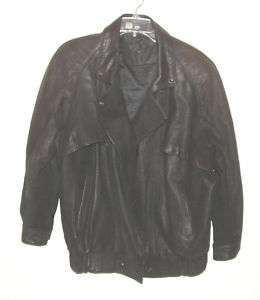 black leather motorcycle jacket by Express size L