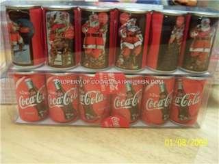 Coke Mini Set Coca Cola Cans 1931 to 1936 Santa LTD NIB