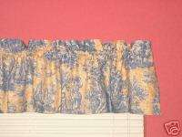 Waverly Yellow & Blue Country French Life Toile Valance