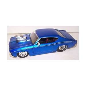 1969 Chevy Chevelle Ss with Blown Engine in Color Blue Toys & Games