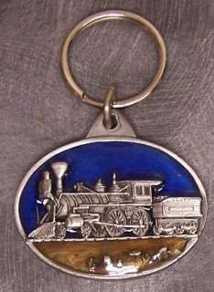 Pewter Key Ring vehicle train Steam Locomotive NEW