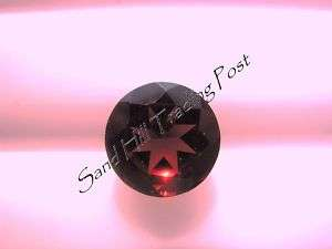 Natural 6mm Loose Round Cut .92ct Red Garnet AAA