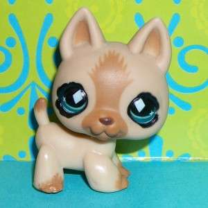 Littlest Pet Shop~#768 TAN GERMAN SHEPHERD PUPPY DOG Diamond Eyes~B129