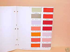 1950 1951 1952 1953   1957 CHEVROLET FORD PAINT CHIPS