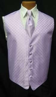 Mens Lavender Fusion Fullback Vest & Long Tie Tuxedo Wedding Prom