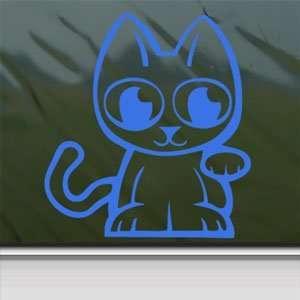 JAPANESE LUCKY CAT PET2 Blue Decal Truck Window Blue