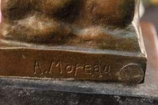 19 AUGUSTE MOREAU CHERUB ANGEL BRONZE SCULPTURE STATUE FIGURINE XMASS