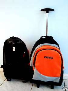 CHIVAS ROLLING CARRY ON LUGGAGE T HANDLE BACKPACK NEW
