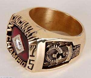 1975 Cincinnati Reds Pete Rose World Series 10K Ring(Salesman Sample
