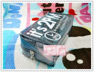 2PM Hottest KPOP COSMETIC BAG PEN PENCIL CASE TYPE A NEW