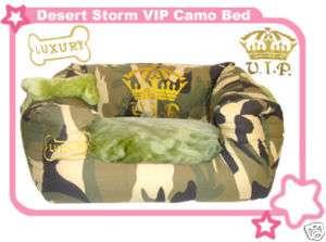 Desert Storm Camouflage Designer Style Dog Cat Pet Bed