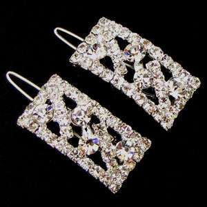 SHIPPING 2 pc Austrian rhinestone crystal fashion hair clip pin