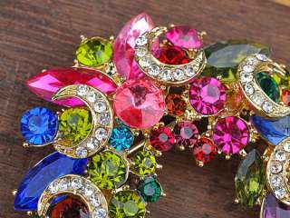 olivine and ruby crystal rhinestones makes this an eye catching piece